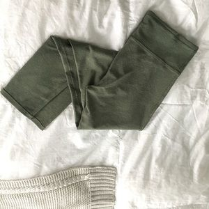 NWOT Aerie Chill Play Move Green Sparkle Legging